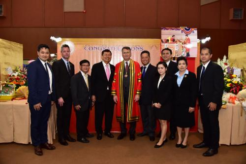 Congratulatory H.E. Peter Pruegel (Honorary Doctor of Business Administration in Industrial Business and Human Resource Development)