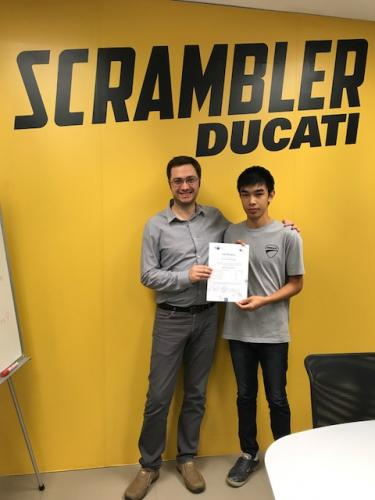 Parinya Ducati GTCC Certificated